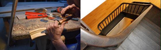 escalera-madera-maciza-artesana-curvas